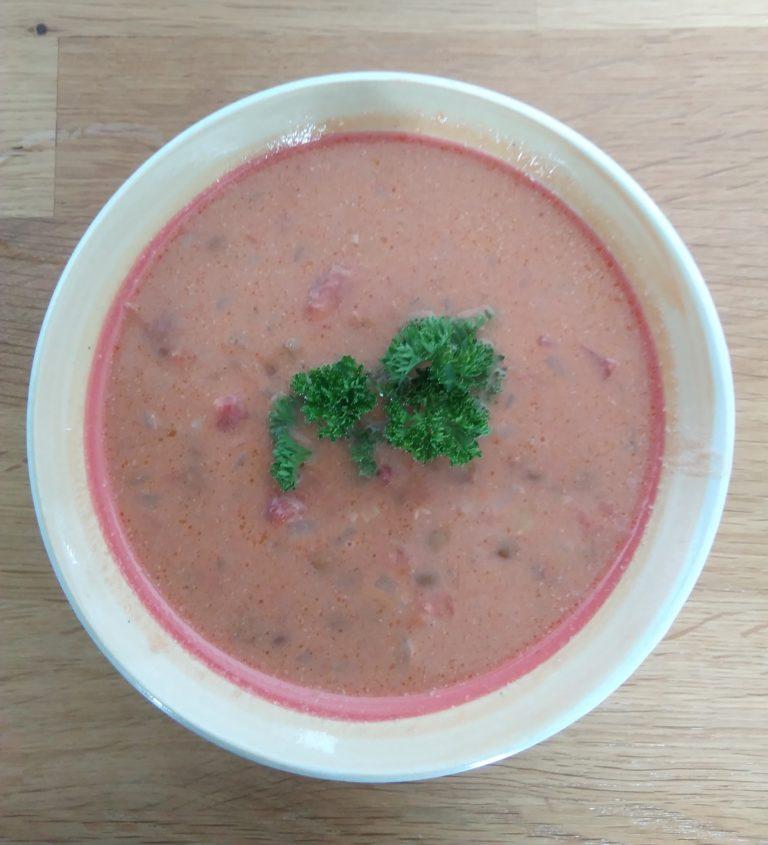 Linsen-Kokosnussmilch Suppe