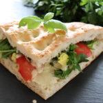 Sandwich mit veganer Mayonnaise