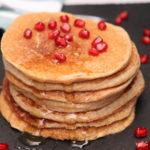 Vegane, gesunde Bananen-Hafer-Pfannkuchen